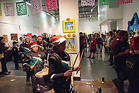 The Alisal Union School District All-Star Drum Corps leads the way to welcome remarks at the December 5th, 2017 opening of the Stories from Salinas exhibition at the CSUMB Salinas Center for Arts and Culture in Oldtown. The exhibition celebrates the mentors, youth and families of the Salinas Youth Initiative.
