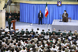 Iran's supreme leader, Ayatollah Ali Khamenei speaks during a meeting with members of the Basij force, a volunteer paramilitary organisation, on November 22, 2016 in the capital Tehran. Iran will retaliate if the United States renews sanctions next month, supreme leader Ayatollah Ali Khamenei warned. Photo by ParsPix/ABACAPRESS.COM