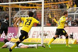 05.11.2011, Signal Iduna Park, Dortmund, GER, 1. FBL, Borussia Dortmund vs. VfL Wolfsburg, im Bild Jubel Shinji Kagawa (#23 Dortmund) und Mario Goetze (#11 Dortmund) nach dem 1-0 // during Borussia Dortmund vs. VfL Wolfsburg at Signal Iduna Park, Dortmund, GER, 2011-11-05. EXPA Pictures © 2011, PhotoCredit: EXPA/ nph/  Kurth       ****** out of GER / CRO  / BEL ******