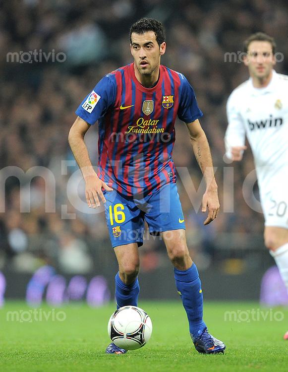 FUSSBALL  INTERNATIONAL  Copa del Rey  1/4  FINALE  2011/2012   18.01.2012 Real Madrid - FC Barcelona  Sergio Busquets (Barca)
