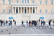 New Parliament building, Tomb of the unknown soldier, Syntagma Square, Athens, Greece