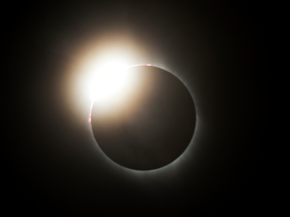 The diamond ring effect is always impressive.  If one is lucky, two will appear during the eclipse, one just before totality, and one, as here, just after.