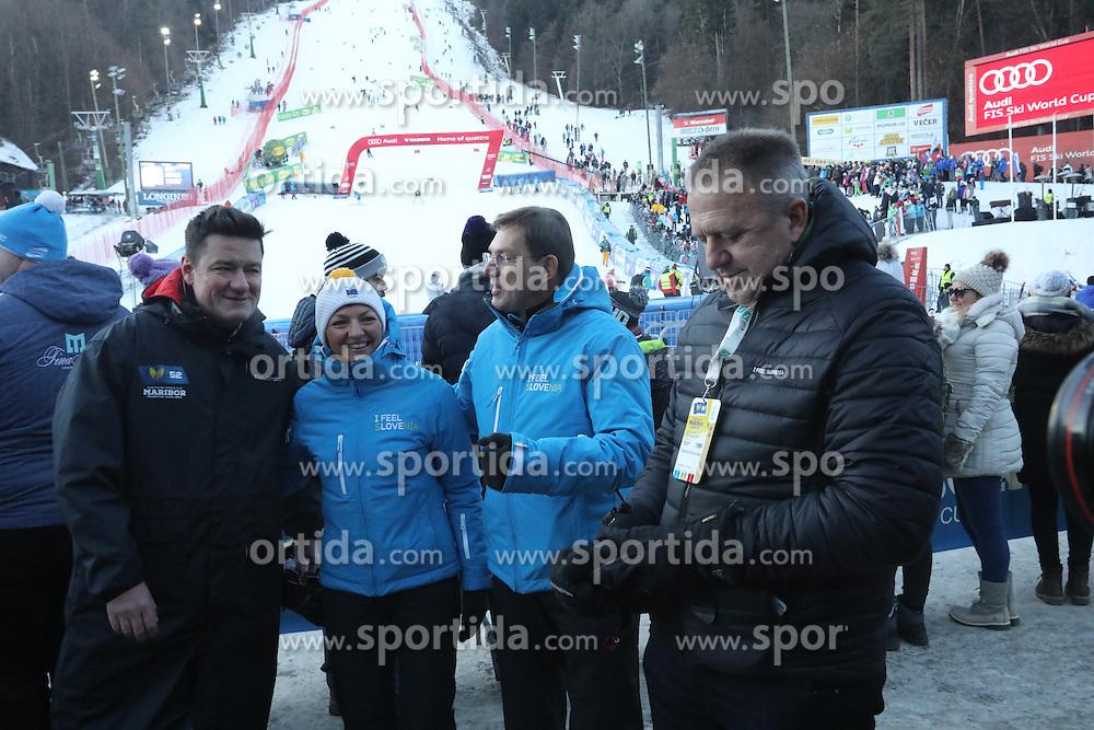 Maja Makovec Brencic, Miro Cerar, Zdravko Počivalsek during 6th Ladies' Giant slalom at 53rd Golden Fox - Maribor of Audi FIS Ski World Cup 2015/16, on January 7, 2017 in Pohorje, Maribor, Slovenia. Photo by Marko Vanovsek / Sportida