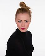 Headshot of actress model.