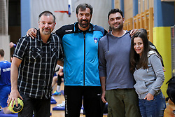 Veselin Vujovic, head coach of Slovenia with fans at practice session of handball team Slovenia before the match against Germany, on May 01, 2017 in Vojasnica Edvarda Peperka, Ljubljana, Slovenia. Photo by Matic Klansek Velej / Sportida