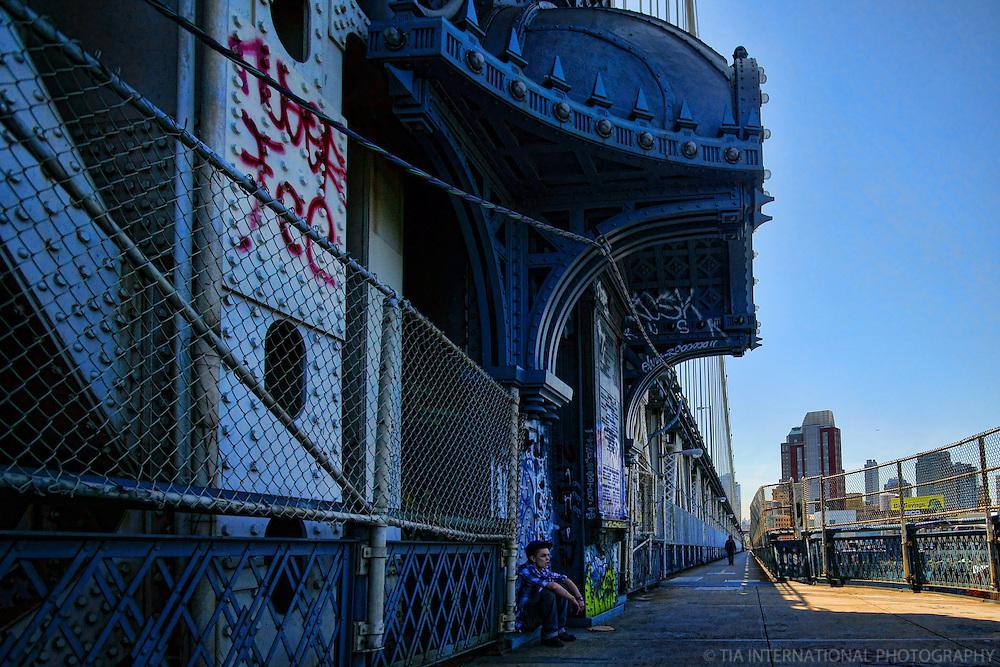 Hanging Out on Manhattan Bridge
