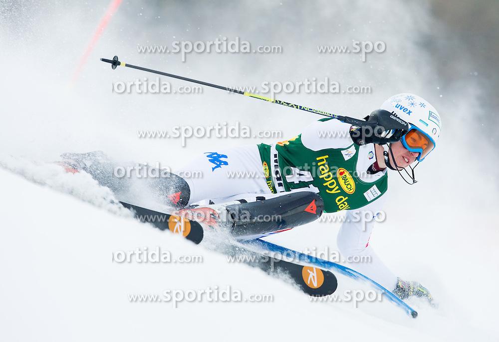 "AZZOLA Michela (ITA) competes during 1st Run of FIS Alpine Ski World Cup 7th Ladies' Slalom race named ""49th Golden Fox 2013"", on January 27, 2013 in Mariborsko Pohorje, Maribor, Slovenia. (Photo By Vid Ponikvar / Sportida.com)"