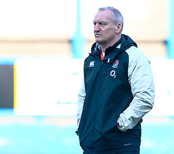 Head Coach Simon Middleton of England during the pre match warm up<br /> <br /> Photographer Simon King/Replay Images<br /> <br /> Six Nations Round 3 - Wales Women v England Women - Sunday 24th February 2019 - Cardiff Arms Park - Cardiff<br /> <br /> World Copyright © Replay Images . All rights reserved. info@replayimages.co.uk - http://replayimages.co.uk