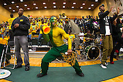 A Norfolk State loyal fan during the Norfolk State - Hampton 2013 MEAC women's basketball game at the Echols Hall in Norfolk, Virginia.  January 26, 2013  Hampton won 76-41.  (Photo by Mark W. Sutton)