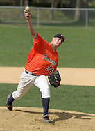 Middletown, NY - Tom Kimiecik of SUNY Orange pitches during a Region XV baseball game against Dutchess Community College on April 26, 2008.