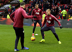 Burnley's Matej Vydra warms up before the match
