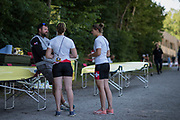 Lucerne, SWITZERLAND, 12th July 2018, Thursday Swiss, Chief Coach, Robin DOWELL,  FISA World Cup III, Lake Rotsee, © Peter SPURRIER,