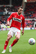 Middlesbrough midfielder Jonny Howson (16) in action during the EFL Sky Bet Championship match between Middlesbrough and Reading at the Riverside Stadium, Middlesbrough, England on 27 April 2019.