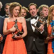 NLD/Utrecht/20181005 - L'OR Gouden Kalveren Gala 2018, Maria Kraakman , Ilse Warringa en Jacob Derwig winnen een Gouden Kalf