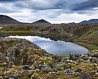 Mjósund in fiord Hraunsfjörður at Snæfellsnes Peninsula, Iceland. Mjósund í Hraunsfirði á Snæfellsnesi.
