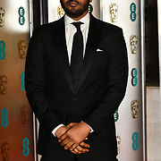 Noel Clarke Arrivers at EE British Academy Film Awards in 2019 after-party dinner at Grosvenor house on 10 Feb 2019.