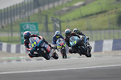 August 10, 2018 - Spielberg, Austria - 84 Czech driver Jakub Kornfeil of Team Pruestl GP and  7 Malaysian driver Adam Norrodin of Team Petronas Sprinta Racing race during free practice of Austrian MotoGP grand prix in Red Bull Ring in Spielberg, Austria, on August 10, 2018. (Credit Image: © Andrea Diodato/NurPhoto via ZUMA Press)