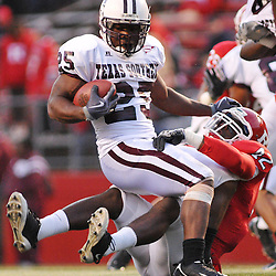 Oct 10, 2009; Piscataway, NJ, USA; Rutgers linebacker Steve Beauharnais (42) tackles Texas Southern running back Martin Gilbert (25) during second half NCAA college football action in Rutgers' 42-0 victory over Texas Southern at Rutgers Stadium.