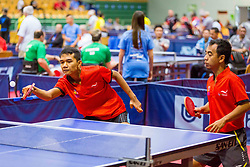 (Team INA) YUSUF Achmad and HAJIYANTO Dwi in action during 15th Slovenia Open - Thermana Lasko 2018 Table Tennis for the Disabled, on May 11, 2018 in Dvorana Tri Lilije, Lasko, Slovenia. Photo by Ziga Zupan / Sportida