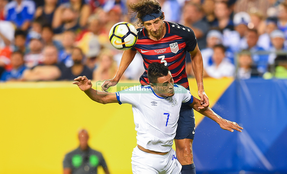 July 19, 2017 - Philadelphia, PA, USA - Philadelphia, PA - Wednesday July 19, 2017: Omar Gonzalez, Darwin Cerén during a 2017 Gold Cup match between the men's national teams of the United States (USA) and El Salvador (SLV) at Lincoln Financial Field. (Credit Image: © Brad Smith/ISIPhotos via ZUMA Wire)