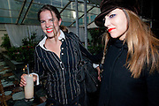 VICTORIA AITKEN; JULIA HUNTINGTON HARTFORD;  , Launch of Total Concierge,  Fruit snow queen vodka cocktails Courtyard Garden at Sanderson Hotel. Berners St. London. 26 May 2009