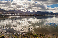 BAHIA Y CIUDAD DE USHUAIA, MONTE OLIVA AL FONDO, PROVINCIA DE TIERRA DEL FUEGO,  PATAGONIA, ARGENTINA (PHOTO BY © MARCO GUOLI - ALL RIGHTS RESERVED. CONTACT THE AUTHOR FOR ANY KIND OF IMAGE REPRODUCTION)