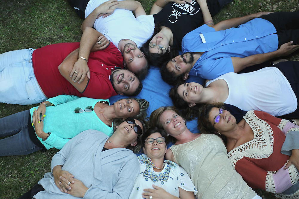 Razvan (with the red t-shirt) at a Romanian adoptees' weekend near Lyon, organised by the charity AFOR (Association Française Orphelins de Roumanie) in August 2016