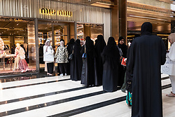 Queue outside Miu Miu at the  Prestige mall inside The Avenues shopping mall in Kuwait City, Kuwait.