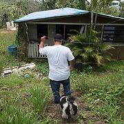 Guayama, Puerto Rico - July 6, 2018: Pedro Ortiz makes his way to his house destroyed by Hurricane Maria. His son Devin plays for the 12 and Under selection from Guayama which will compete in Little League World Series.<br /> (Angel Valentin for ESPN)