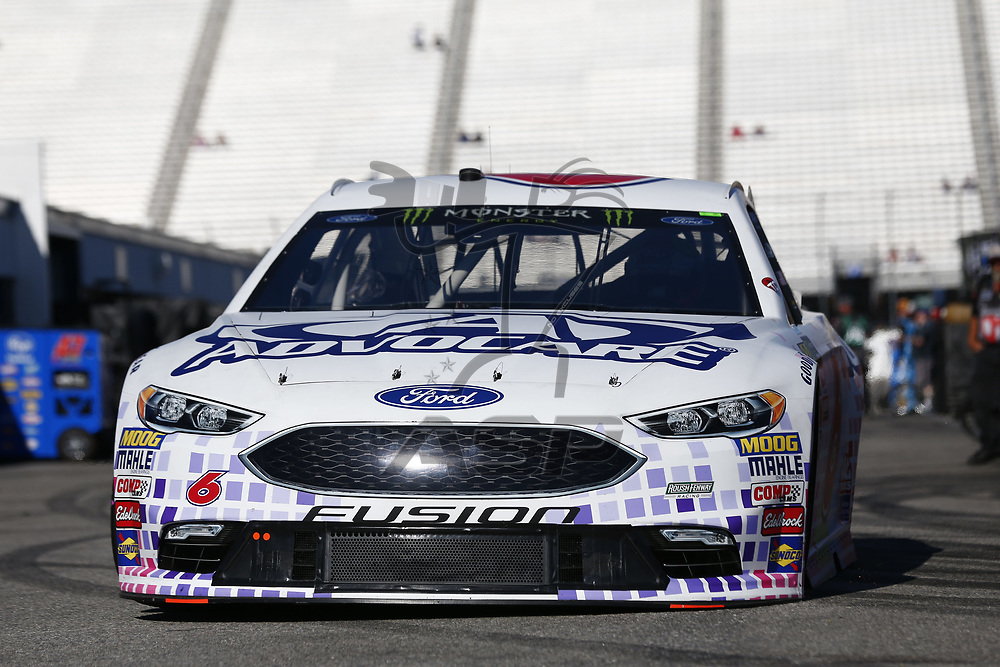 September 23, 2017 - Loudon, New Hampshire, USA: Trevor Bayne (6) takes to the track to practice for the ISM Connect 300 at New Hampshire Motor Speedway in Loudon, New Hampshire.