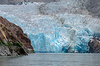 Face of the retreating South Sawyer Glacier in Tracy Arm - Ford Terror Wilderness, Alaska.