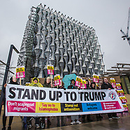 20 Jan 2018 - Protest against Trump's racism at the New US embassy in South London.