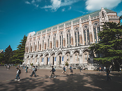 United States, Washington, Seattle, Suzzallo Library on University of Washington main campus