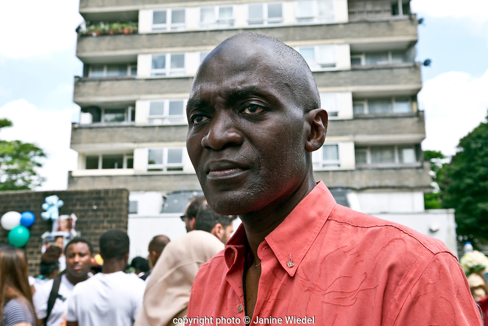 Musa kalamulah, a psychosocial intervention worker  lives in the highrise next to Grenfell Tower that was destroyed by fire on 14th June 2017.  The death toll officially at 75 but will no doubt rise to three figures.