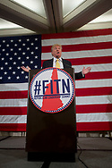 April 18, 2015, Nashua NH, USA:  Donald Trump, speaking at #FITN (fist in the nation) Republican Leadership Summit at Crown Plaza Nashua in Nashua, NH.