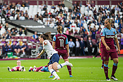 GOAL: Lucy Quinn (Tottenham Hotspur) off to celebrate her goal during the FA Women's Super League match between West Ham United Women and Tottenham Hotspur Women at the London Stadium, London, England on 29 September 2019.