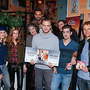 NLD/Amsterdam/20130219 - Platina Award voor de film Verliefd op Ibiza, cast, Marly van der Velden, Jim Bakkum, Jan Kooijman, Jasper Gottlieb, Kimberly Klaver, Willeke van Ammelrooy