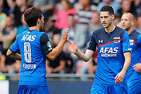 (L-R) Joris van Overeem of AZ Alkmaar, Marko Vejinovic of AZ Alkmaar