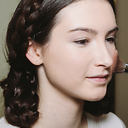 PROVIDENCE, RI - FEB 13: Maggie J Skinner backstage prior to the Jess Abernethy show as part of StyleWeek NorthEast on February 13, 2015 in Providence, Rhode Island. (Photo by Cat Laine)