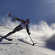 Ralph Green, USA, in action during the Men Giant Slalom Standing competition at Coronet Peak, during the Winter Games. Queenstown, New Zealand, 23rd August 2011. Photo Tim Clayton..