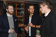 THOMAS HARVEY; JONATHAN SYDES; HENRY DINKEL, The Gentlemen's Journal Autumn Party, in partnership with Gieves and Hawkes- No. 1 Savile Row London. 3 October 2013