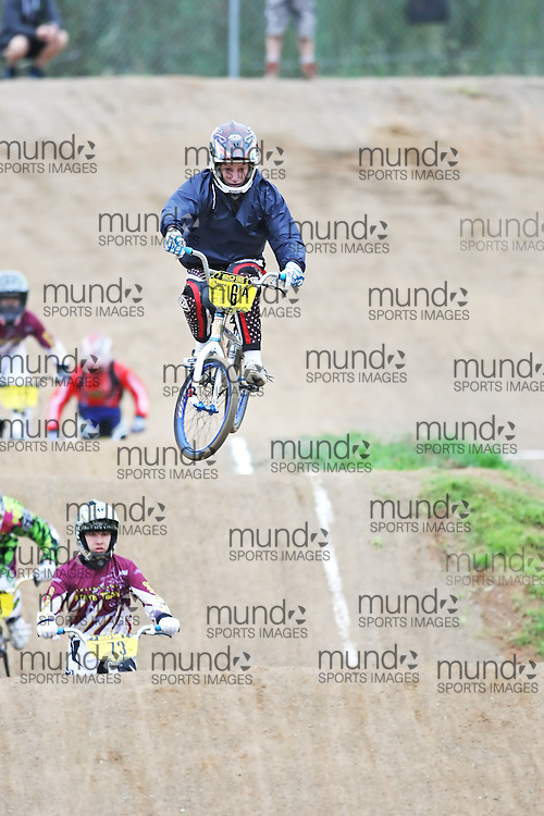 (Canberra, Australia---03 March 2012) Shane Rosa of South Australia competing in stage 5 of the BMX Australia Boys under 15 Champbix series at the Melba BMX Track in Canberra, Australia. Photograph 2012 Copyright Sean Burges / Mundo Sport Images. For reproduction rights and information in Australia, contact seanburges@yahoo.com. For information elsewhere contact info@mundosportimages.com.