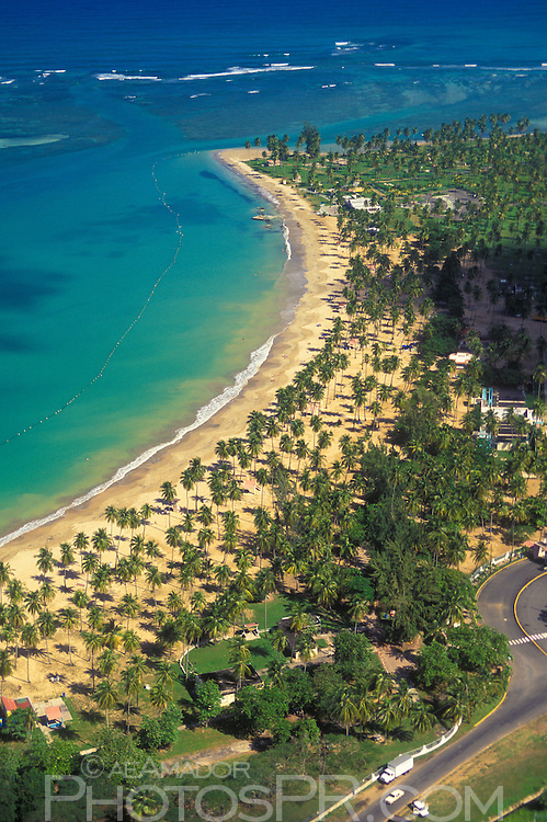 Aerial view of Luquillo beach