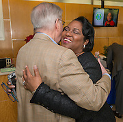 Reception for exiting trustee Paula Harris at Hattie Mae White, December 10, 2015.