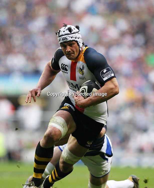 Dan Ward-Smith running with the ball- Guinness Premiership - London Wasps v Bath Rugby - Saturday 24 April 2010. Twickenham - London