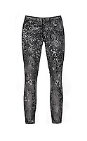 Black sequin leggings on white background