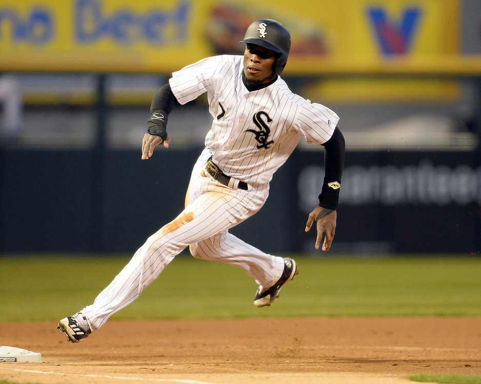 CHICAGO - APRIL 07:  Tim Anderson #7 of the Chicago White Sox runs the bases against the Minnesota Twins on April 7, 2017 at Guaranteed Rate Field in Chicago, Illinois.    (Photo by Ron Vesely)   Subject:  Tim Anderson