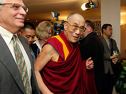 BRUSSELS, BELGIUM - MAY-30-2006 - The Dalai Lama meets with Josep Borrel , President of the European Parliament in Brussels. (PHOTO © JOCK FISTICK)
