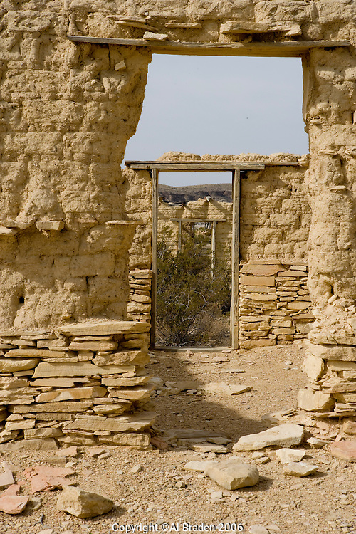 Ruins at Terlingua Ghost Town, Terlingua, Texas