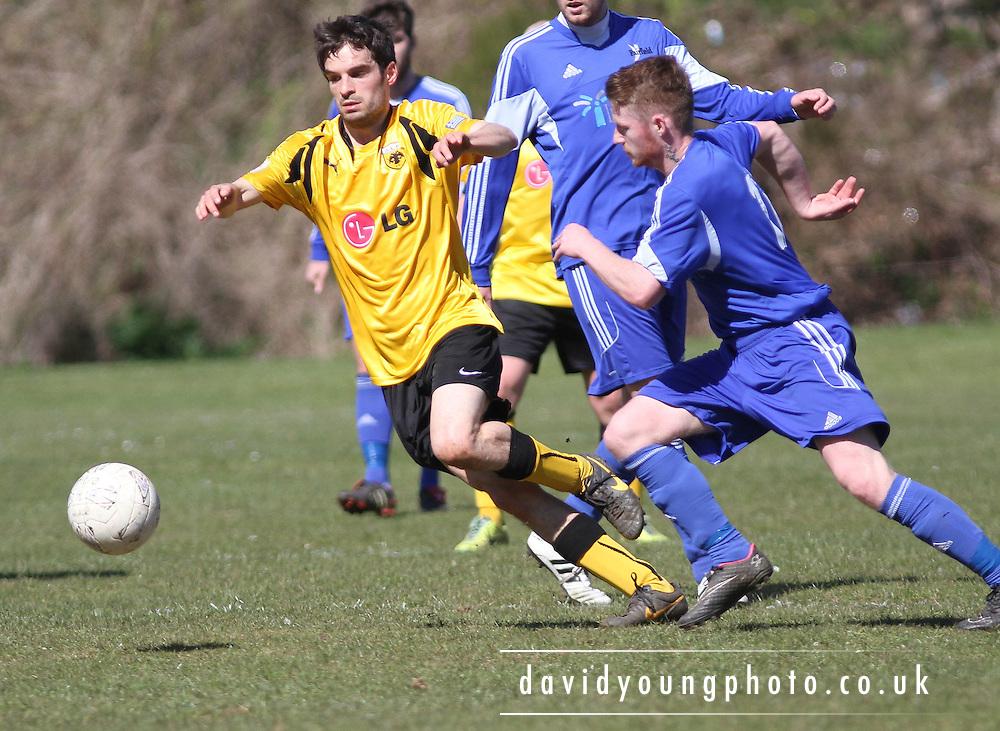 Riverside Athletic (yellow) v St.James (blue) - Midlands AFA BUCKMAN MACKIE TROPHY 14-15 - 1ST ROUND<br /> <br />  - &copy; David Young - www.davidyoungphoto.co.uk - email: davidyoungphoto@gmail.com